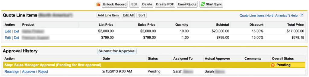 Salesforce Genehmigungsprozess darstellen