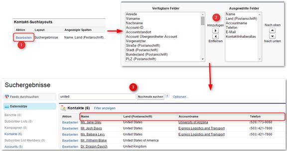 Globale Suche in Salesforce: Zusätzliche Objektfelder