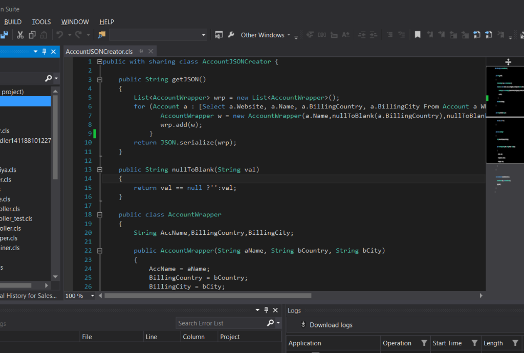 Salesforce IDE Cloud9
