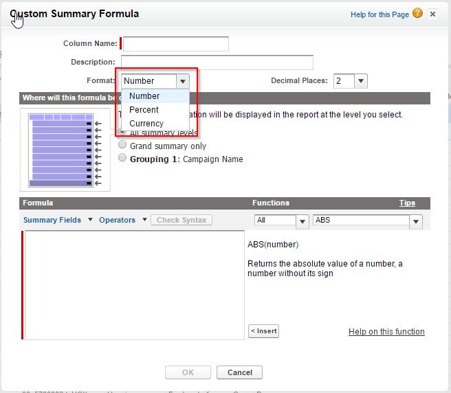 Mit Salesforce Reports Formeln ist es nicht möglich einen Link oder URL einzufügen.