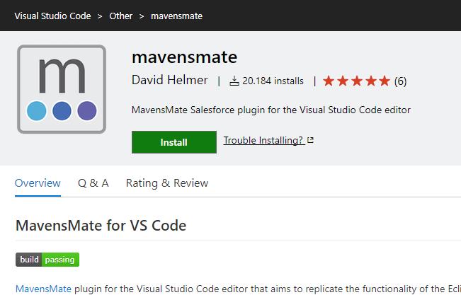 Mavensmate für Visual Studio Code