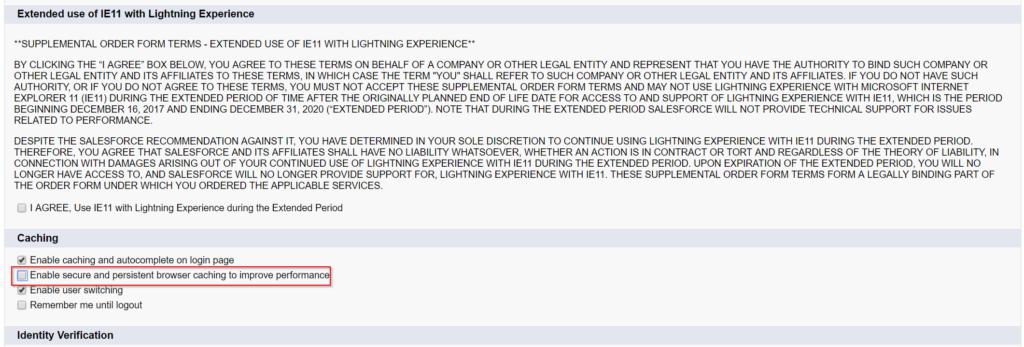 Salesforce Lightning Caching entschärfen