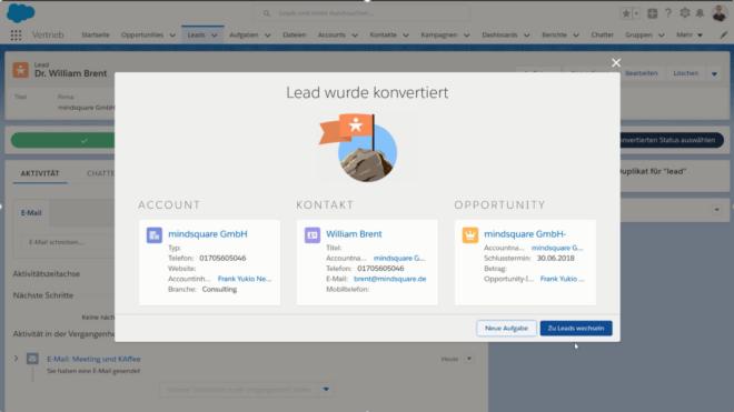 Salesforce Lead konvertieren