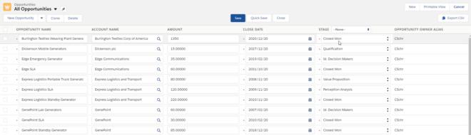 Salesforce Mass Editor. Editieren Sie mit dieser Erweiterung viele Records auf einmal.