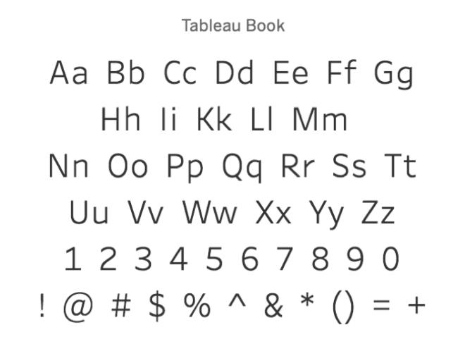 Business Intelligence mit Tableau: Tableau Book ist eine eigens von Tableau entwickelte Schriftart, die auf Dashboards besonders gut lesbar sein soll