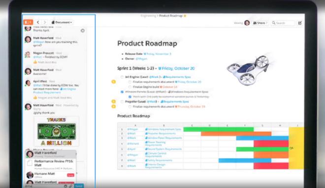 Salesforce und Quip: Integrierter Chat in Quip