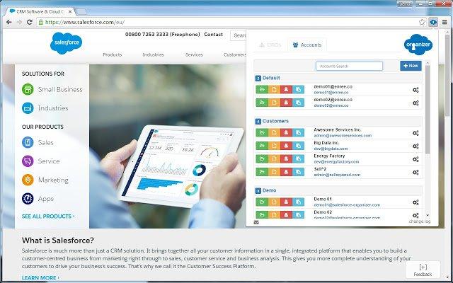 Organisieren Sie viele Orgs, wechseln sie zwischen verschiednenen und behalten Sie den Überblick mit dieser Salesforce Erweiterung für Chrome