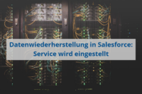 Datenwiederherstellund in Salesforce