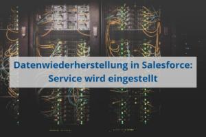 Datenwiederherstellund in Salesforce