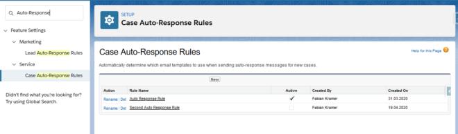Auto-Response Rule