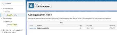 Abbildung 1: Case Eskalation Rules