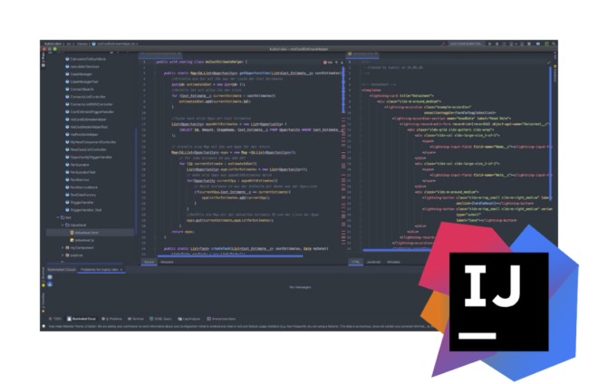Screenshot der IntelliJ IDE