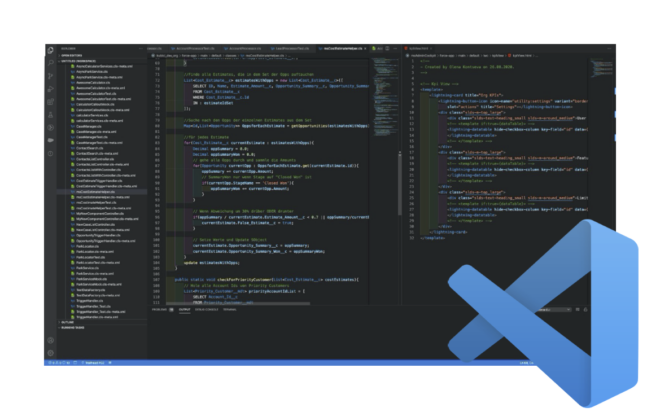Screenshot der VS Code IDE
