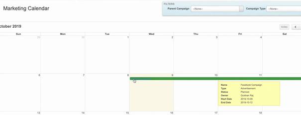 Kampagnenkalender für Salesforce