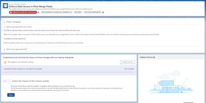 Beispiel: Flow Data Access (Salesforce Release Updates)