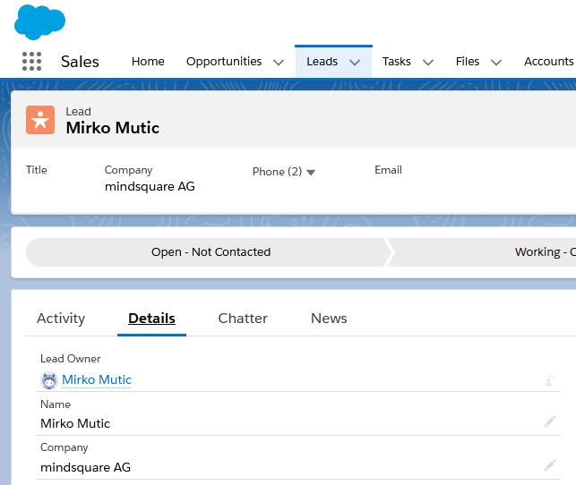 Salesforce Leads: Lead in Salesforce