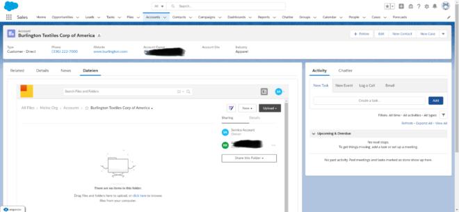 Speichergrenzen von Salesforce